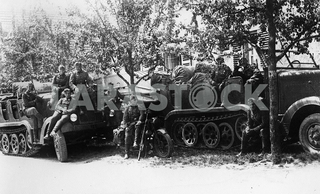 German infantry on rest. — Image 22421