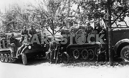 Немецкая пехота на отдыхе