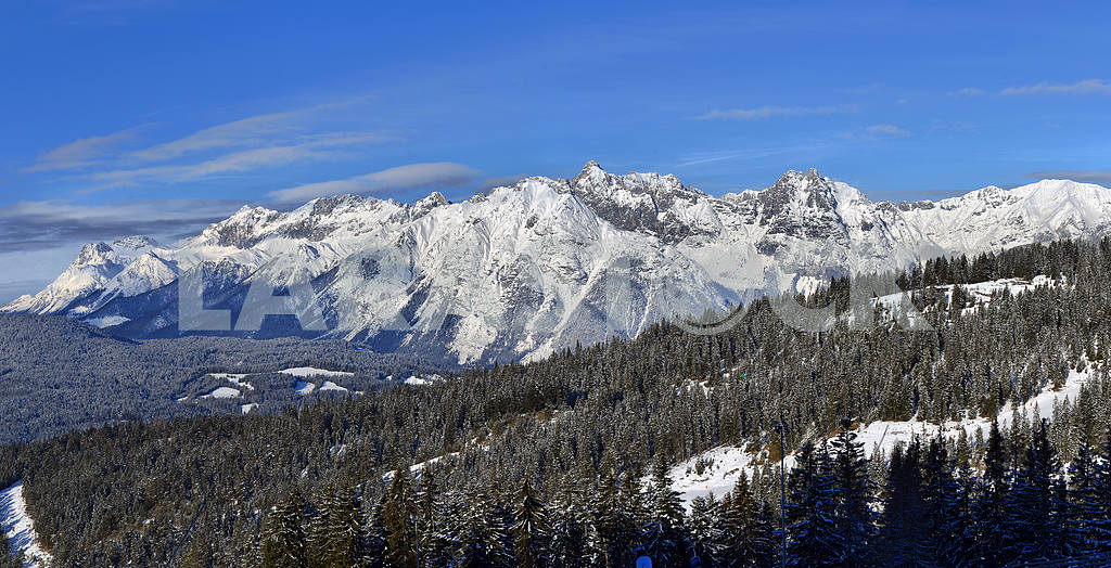 Winter panorama of the Alps — Image 2253