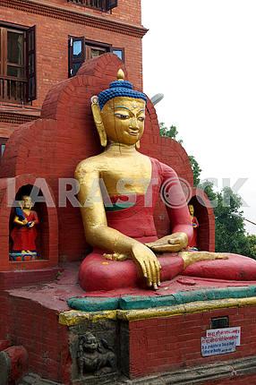 Smiling Gautama Buddha. Nepal, Kathmandu