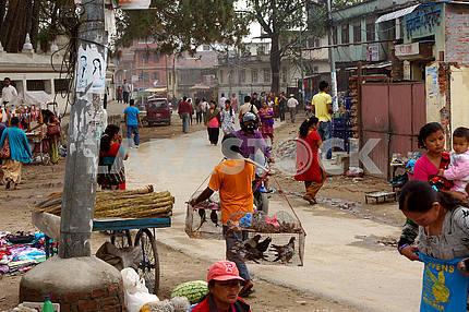 На улицах Непала, Катманду