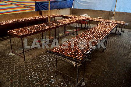 Церковные свечи. Катманду. Непал.