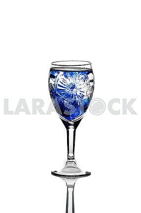 Glass wineglass It stands on the background Glass wineglass It stands on the white background