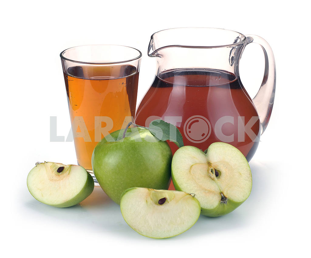 Apple juice in a jug of fruit — Image 2279
