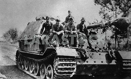 The crew of a German self-propelled Ferdinand