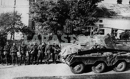 German Hotkiss command armored vehicle