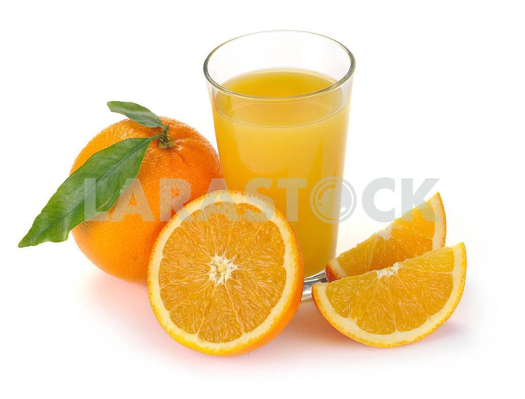 Orange juice and fruit — Image 2289