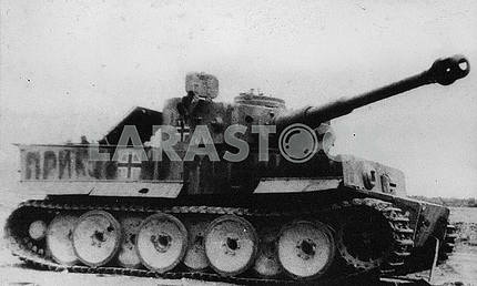 Destroyed german heavy tank Tiger