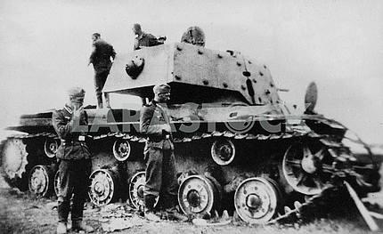 The Germans captured Soviet tank