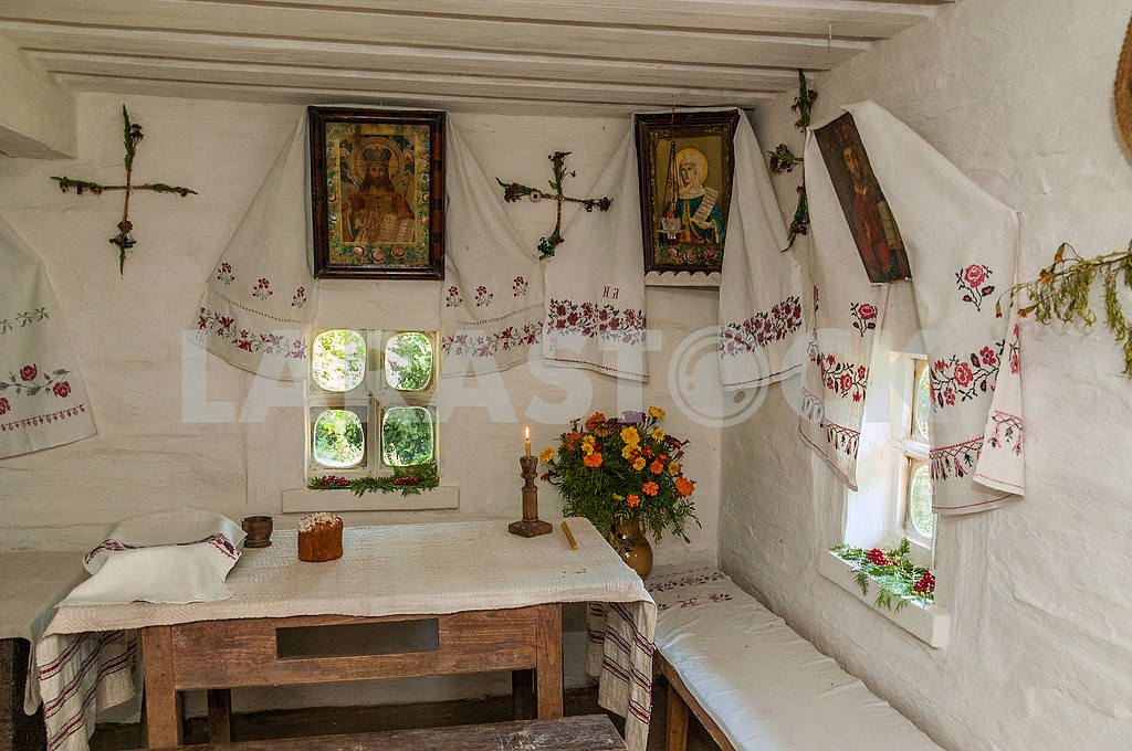 Ukraine. Kanev. The interior of the hut in which he lived as a child Taras Shevchenko — Image 23177