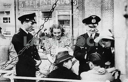 German officers on leave