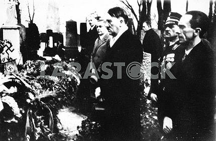 Hitler and Goebbels a funeral