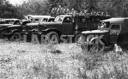 Soviet military infantry trucks