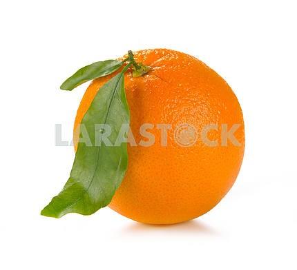 Orange with leaves