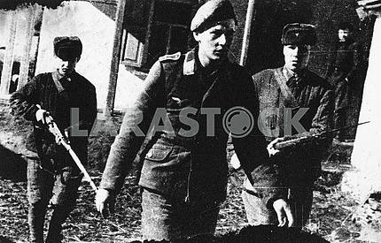 German prisoners pilot