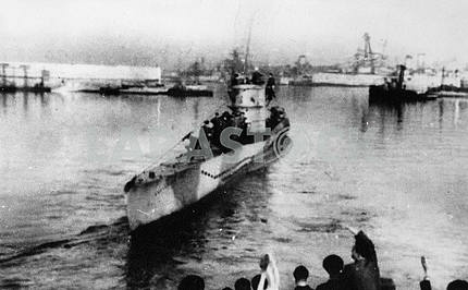Soviet submarine in Murmansk