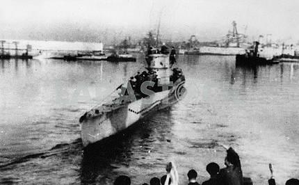 Soviet submarine in Murmansk