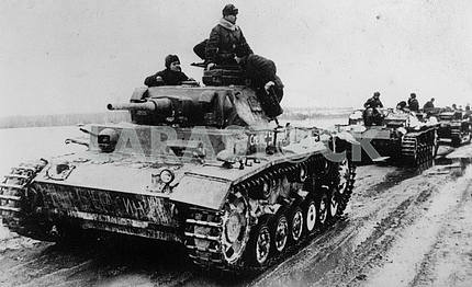 Captured German tanks