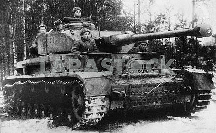 German captured tank