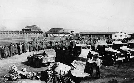 Пленные в концлагере