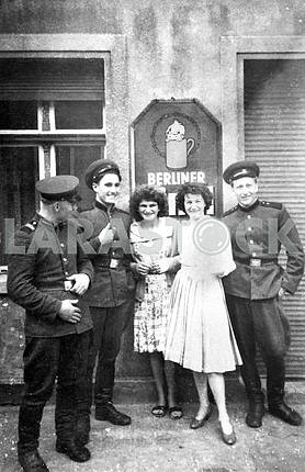Soviet soldiers with german girls