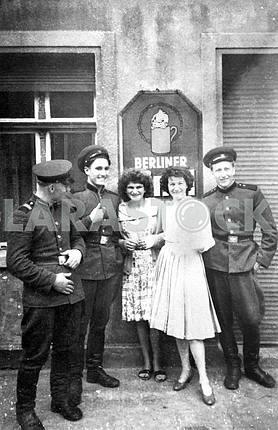 Soviet soldiers with german girls