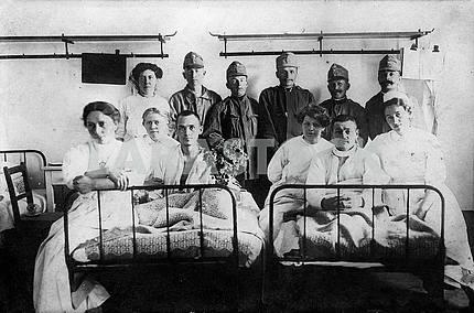 Austrian soldiers in hospital