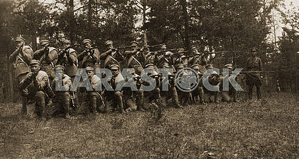 Russian soldiers. 1930th.