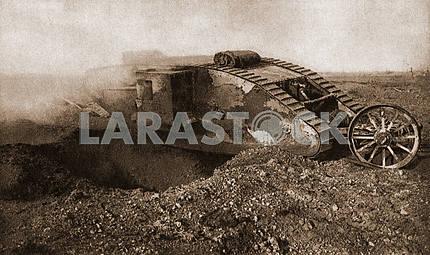British tanks. First World War
