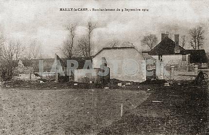 Bombed house. First World War
