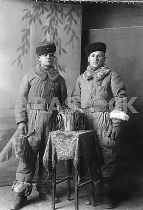 Cossacks in winter clothing