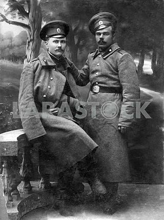 Russian soldiers. First World War