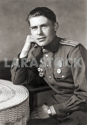 A Soviet officer. Portrait