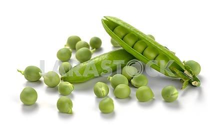 Спелые гороха овощей
