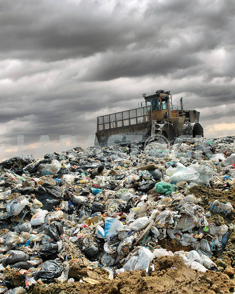 The bulldozer on a garbage dump — Image 2622