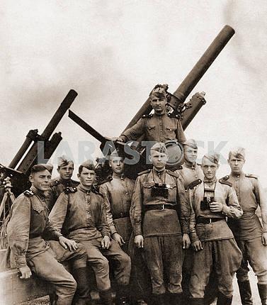 Soviet artillerymen