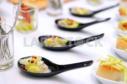 Scallops in the spoon