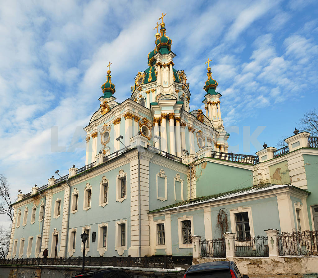Andreevsky church in Kiev in the winter — Image 2683