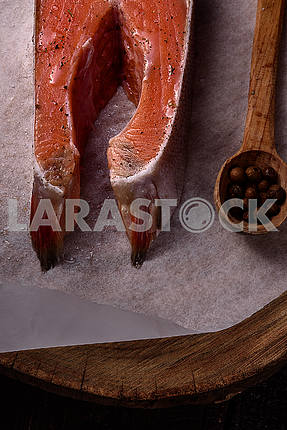 A piece of red fish