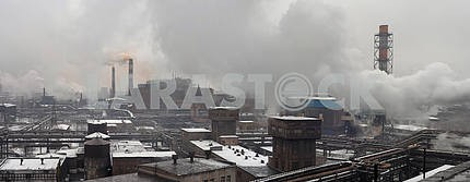 Industrial landscape of metallurgical industrial complex