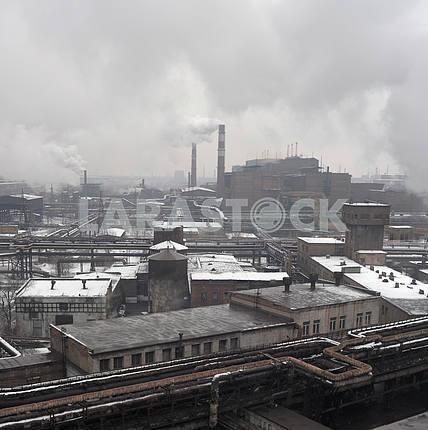 Industrial landscape of metallurgical industrial complex
