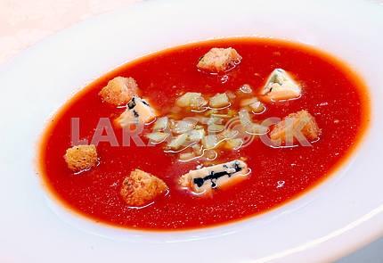 The Spanish tomato soup gazpacho