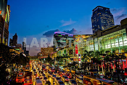 Evening lights of Bangkok