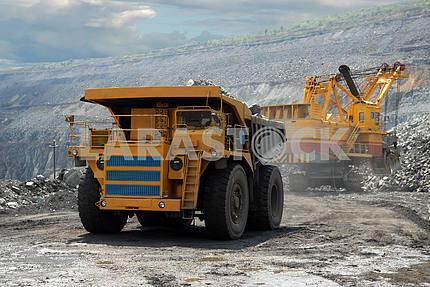 Very big dump-body truck
