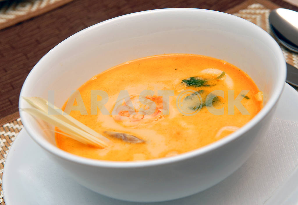 Creamy soup from seafood — Image 2837