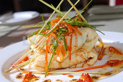 Pancakes with vegetables