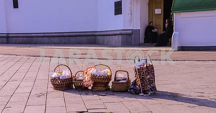Easter basket waiting for baptism.