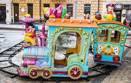 Children's Railway with dwarfs