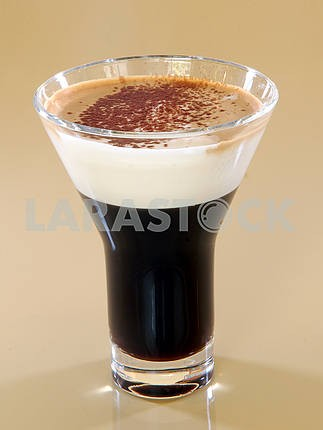 Mug of layered caffe latte