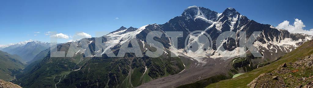 Glacier the Big seven on caucasus, panorama — Image 2945